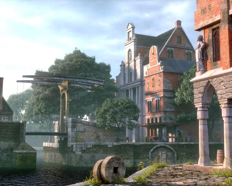 Drawbridge 3D environment artwork