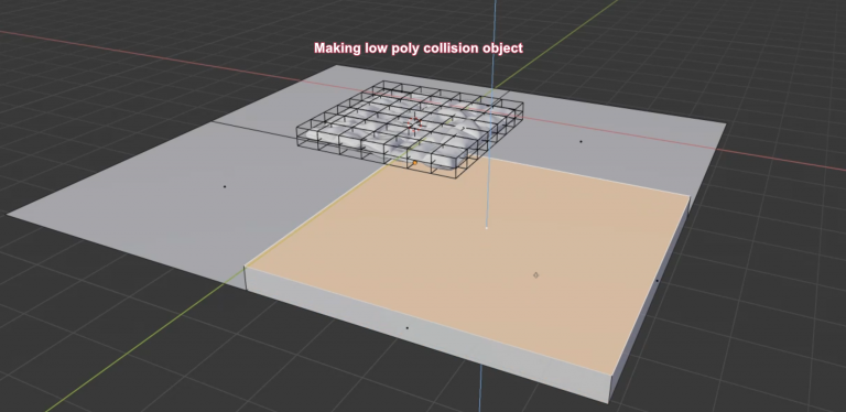 creating low poly collision object