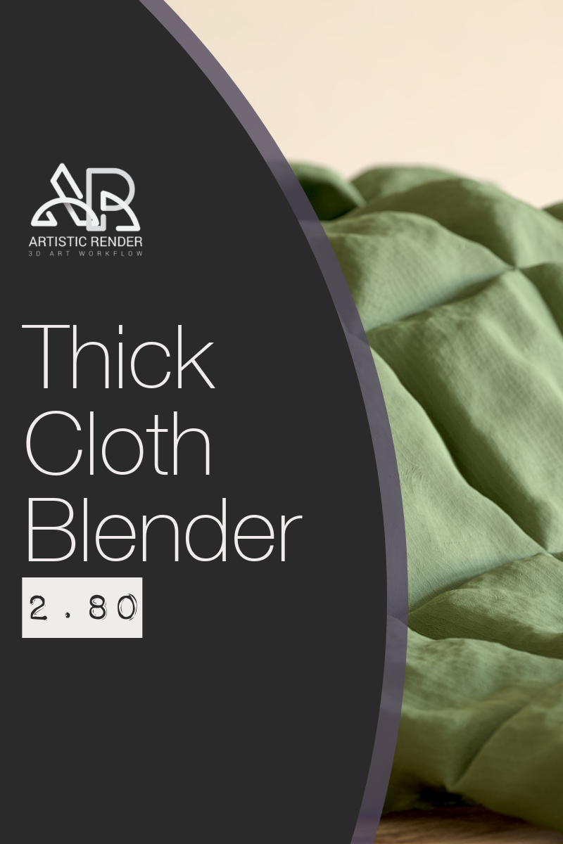Blender cloth simulation 2.80 making a thick blanket
